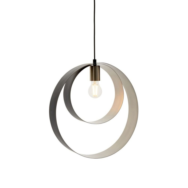 Endon-92880 - Cal - Matt Black & Brushed Nickel Pendant