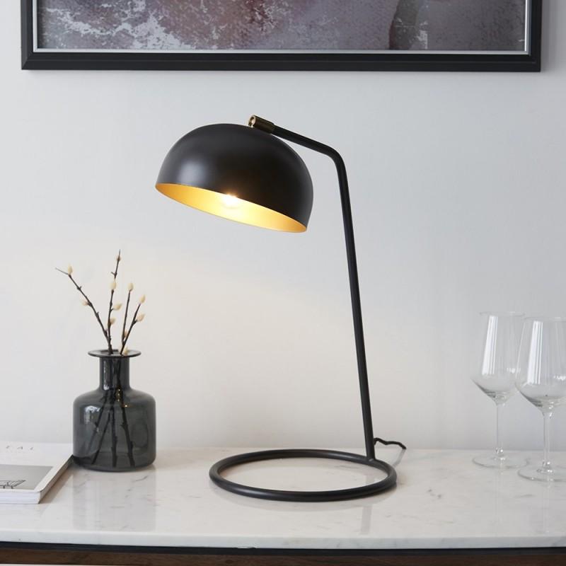 Endon-93090 - Brair - Matt Black & Antique Brass Table Lamp