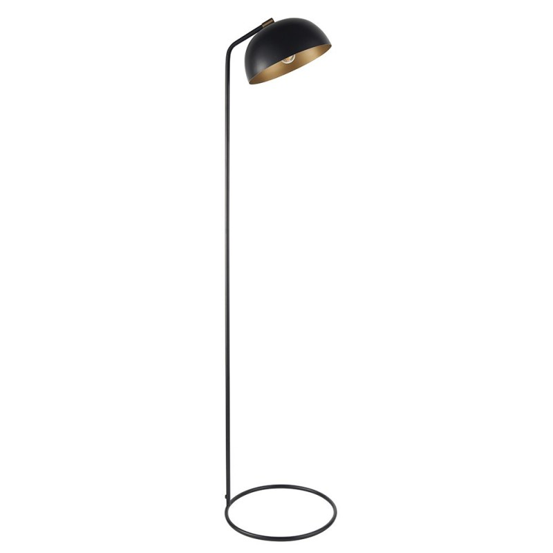 Endon-93091 - Brair - Black & Antique Brass Floor Lamp