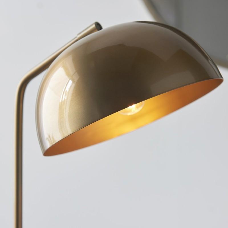 Endon-93092 - Brair - Antique Brass Floor Lamp
