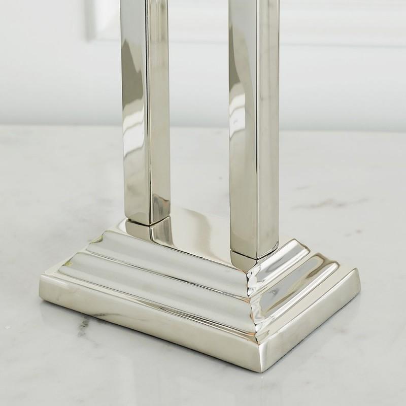 Endon-93133 - Saran - Table Base Only - Polished Nickel