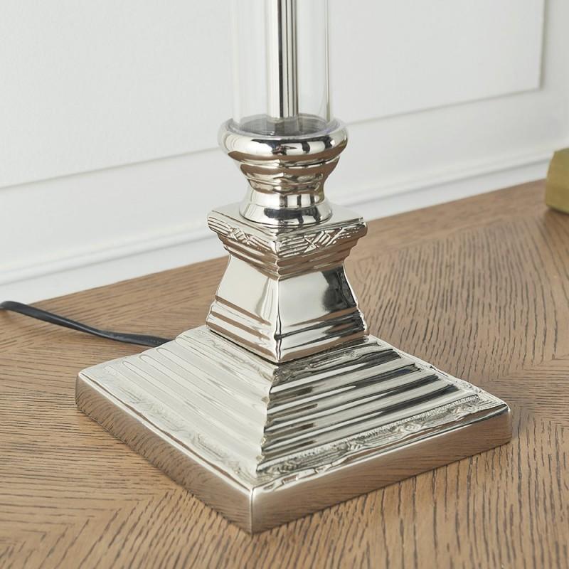 Endon-93136 - Kalin - Table Base Only - Polished Aluminium & Glass