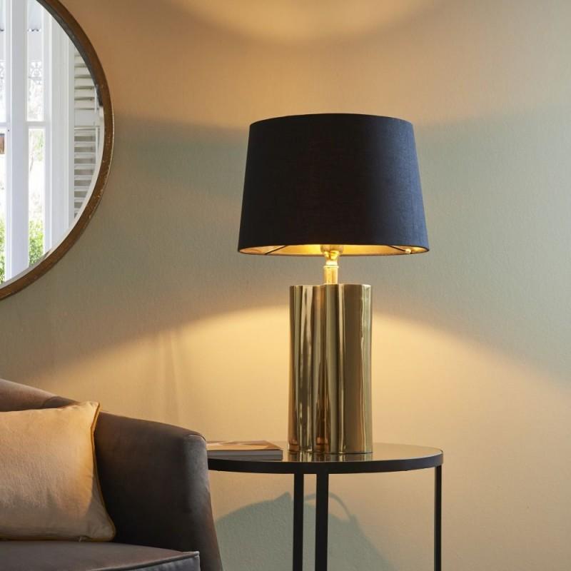 Endon-93137 - Calan - Black & Gold Table Lamp