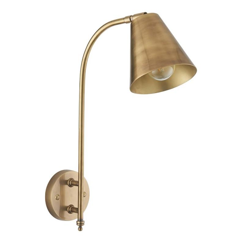 Endon-93144 - Radha - Antique Brass Long Arm Wall Lamp