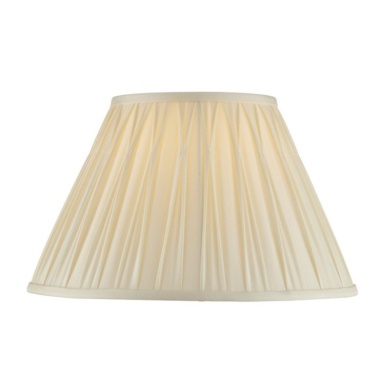 Endon-94353 - Chatsworth - 14 inch Ivory Silk Shade