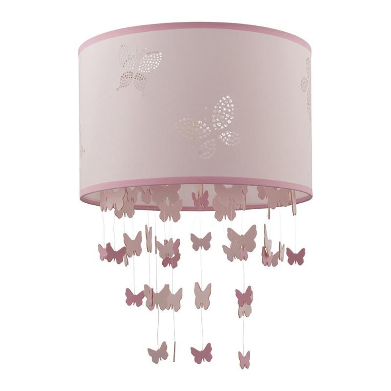 Endon-94356 - Amathea - Decorative Pink Shade for Hanging Pendant