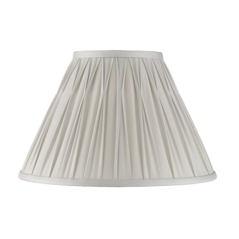 Endon-94360 - Chatsworth - 12 inch Silver Silk Shade
