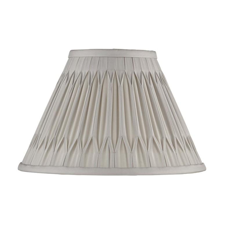 Endon-94363 - Chatsworth - 10 inch Silver Silk Shade