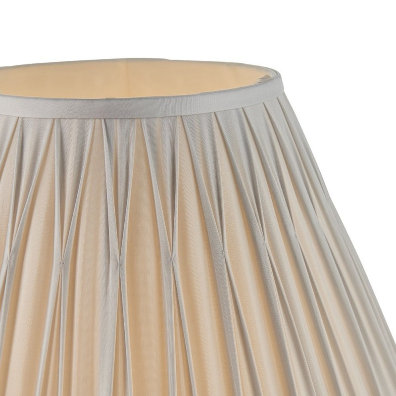 Endon-94364 - Chatsworth - 16 inch Silver Silk Shade
