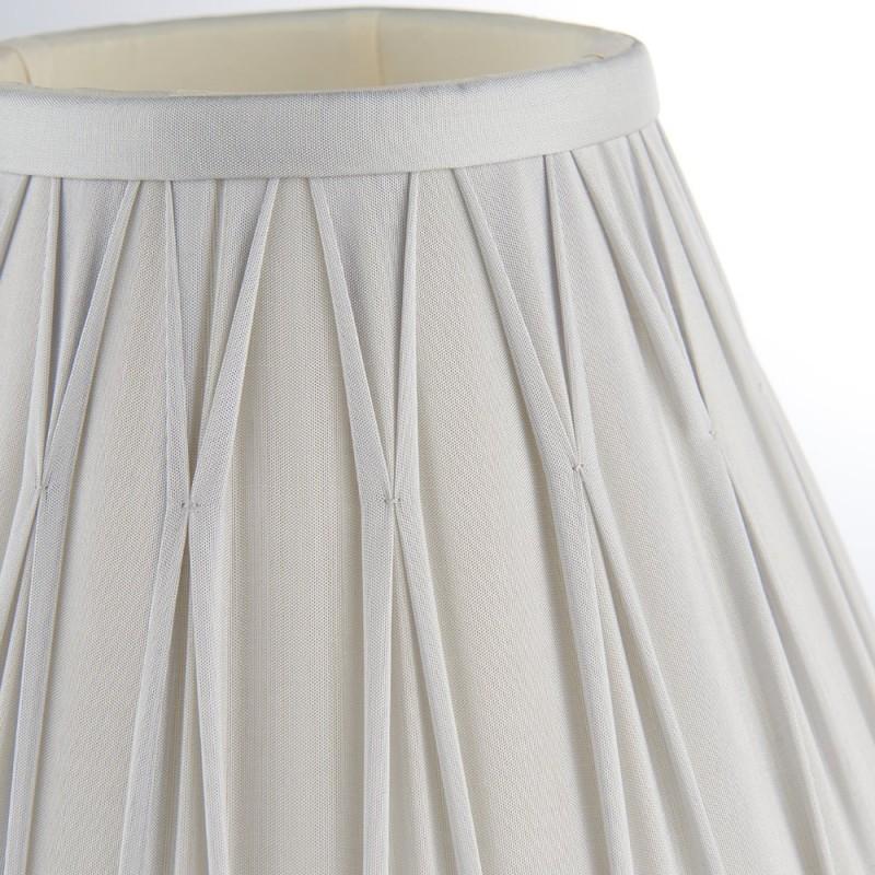 Endon-94368 - Chatsworth - 8 inch Silver Silk Shade