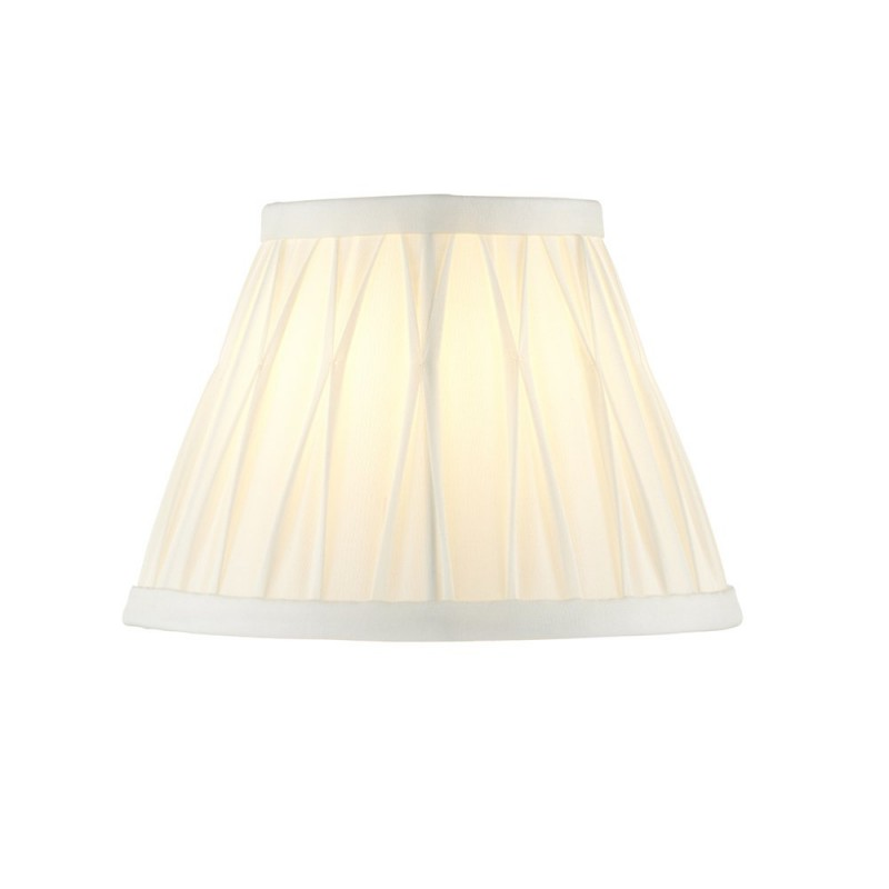 Endon-94374 - Chatsworth - 6.5 inch Vintage White Silk Shade