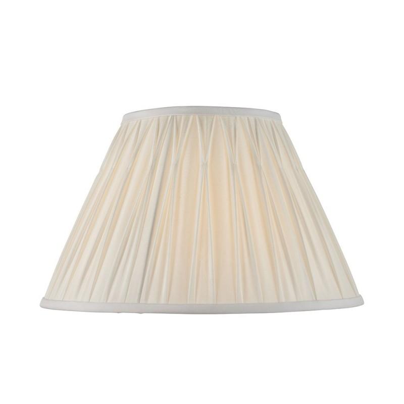 Endon-94376 - Chatsworth - 14 inch Vintage White Silk Shade