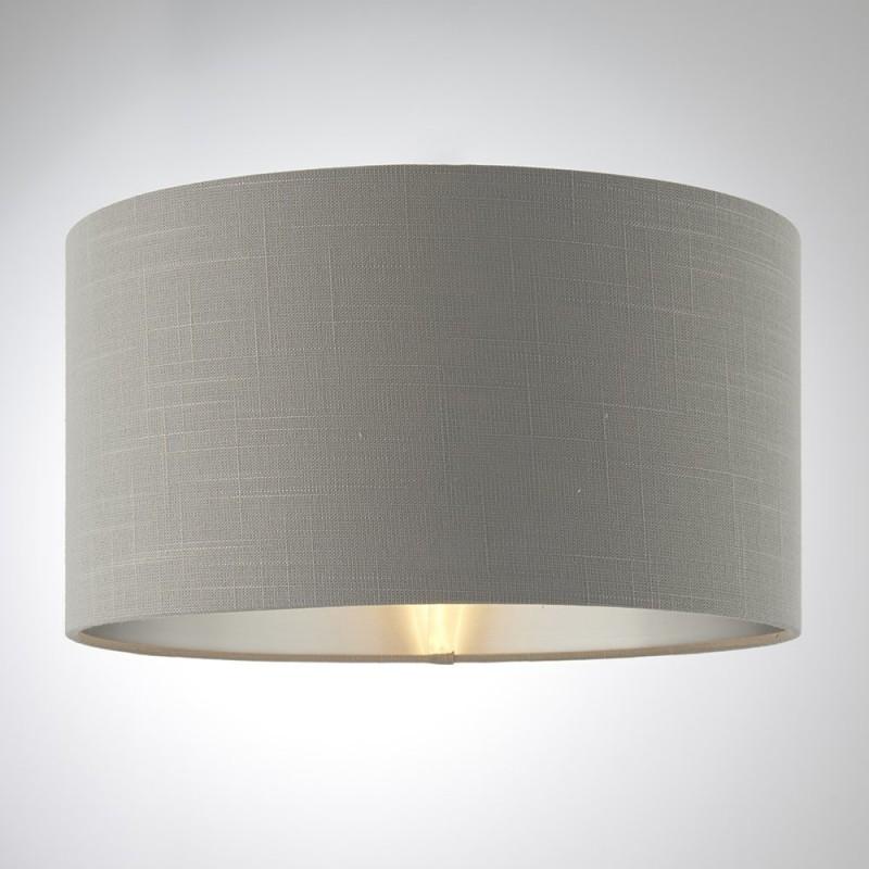 Endon-94379 - Highclere - 14 inch Charcoal Linen & Metallic Shade