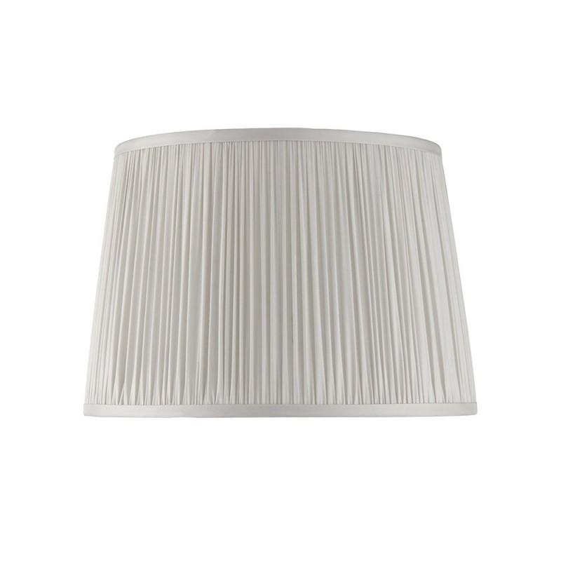 Endon-94382 - Wentworth - 12 inch Silver Silk Shade