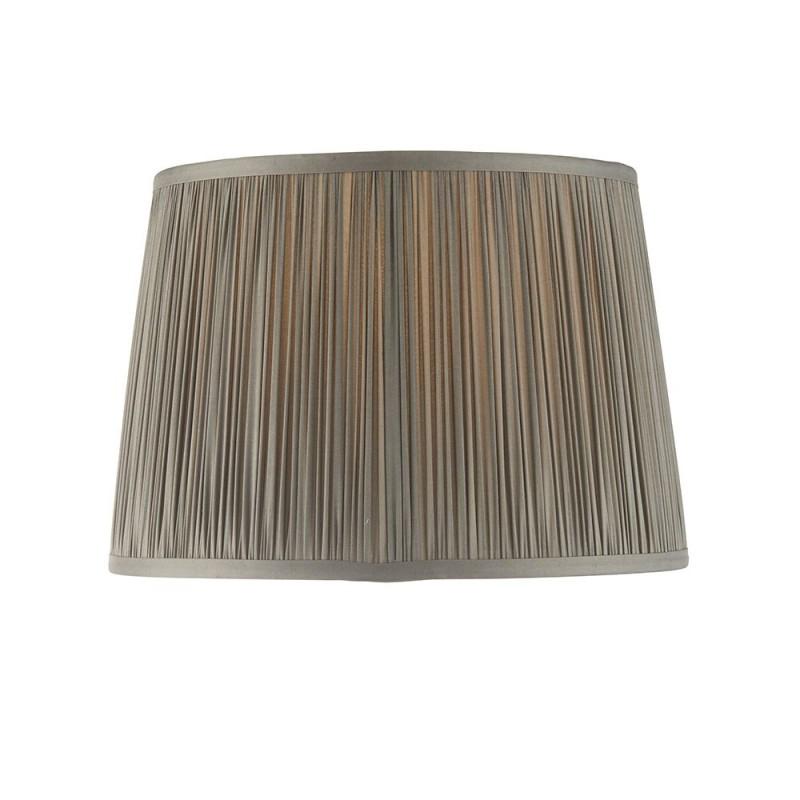 Endon-94383 - Wentworth - 12 inch Charcoal Grey Silk Shade