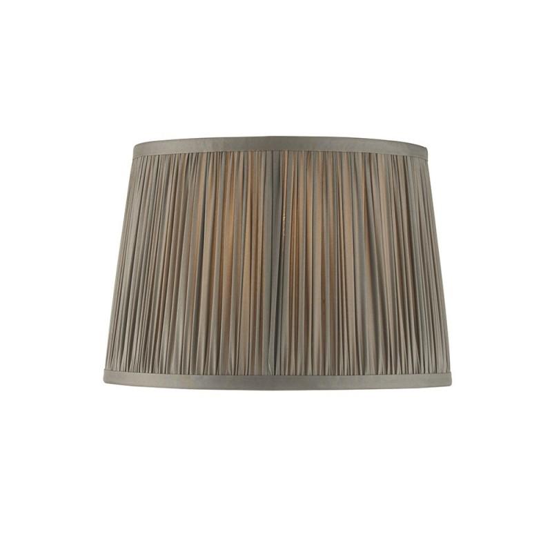 Endon-94389 - Wentworth - 10 inch Charcoal Grey Silk Shade