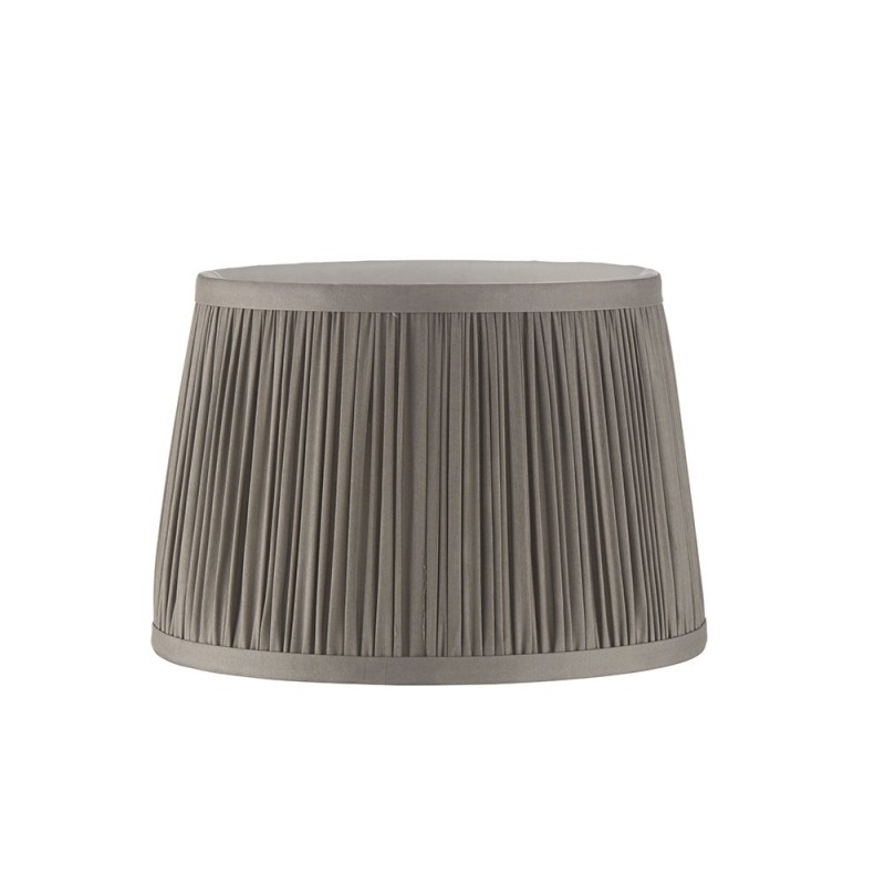 Endon-94390 - Wentworth - 8 inch Charcoal Grey Silk Shade
