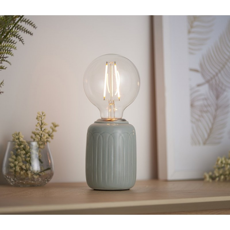 Endon-94506 - Olivia - Handmade Thyme Ceramic Table Lamp