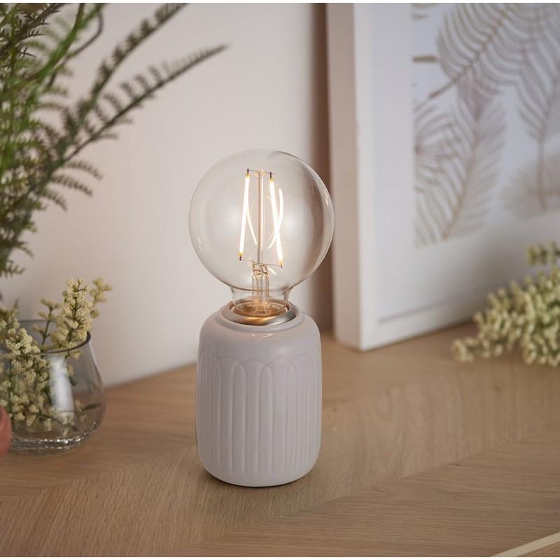 Endon-94507 - Olivia - Handmade Taupe Ceramic Table Lamp