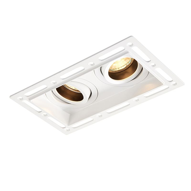 Saxby-94754 - Trimless - Trimless Tilt Twin Recessed Downlight