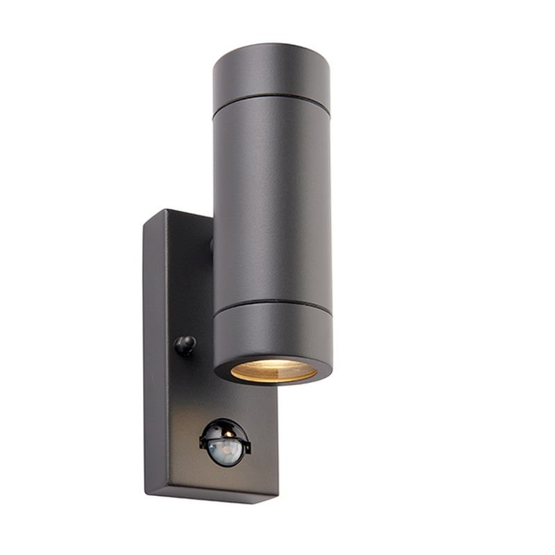 Saxby-94793 - Palin - Outdoor Anthracite Grey Up&Down PIR Wall Lamp