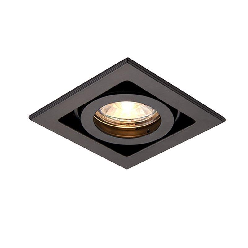 Saxby-94795 - Xeno - Square Matt Black Recessed Downlight