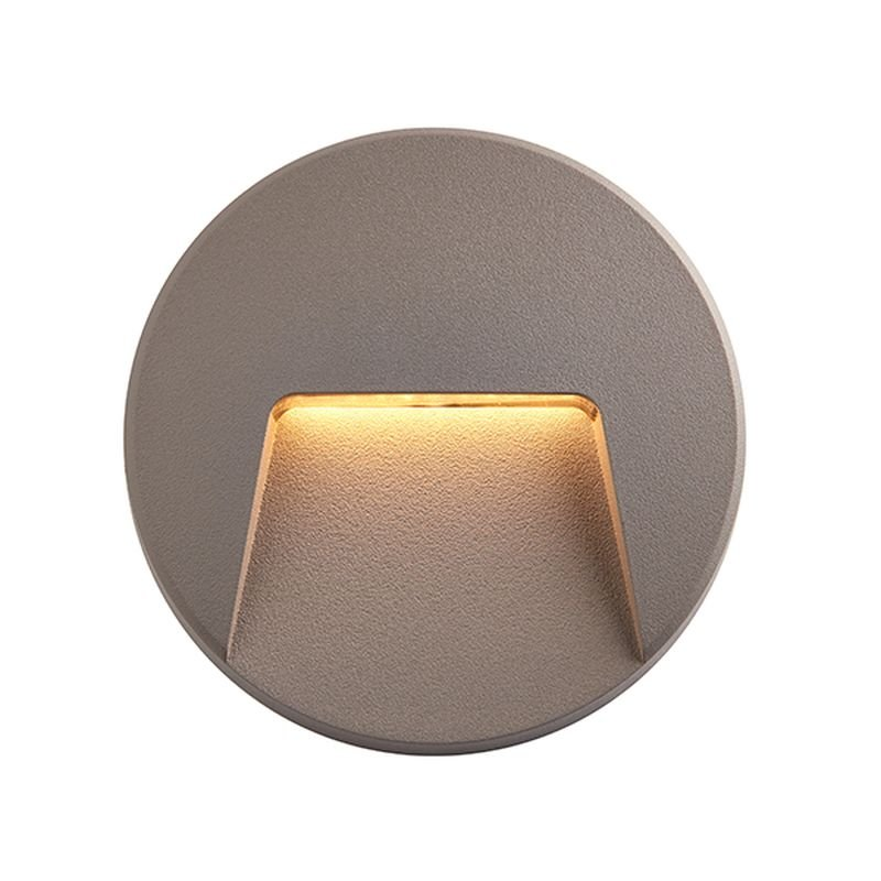 Saxby-95285 - Severus CCT - Outdoor LED Grey & Clear Wall Lamp
