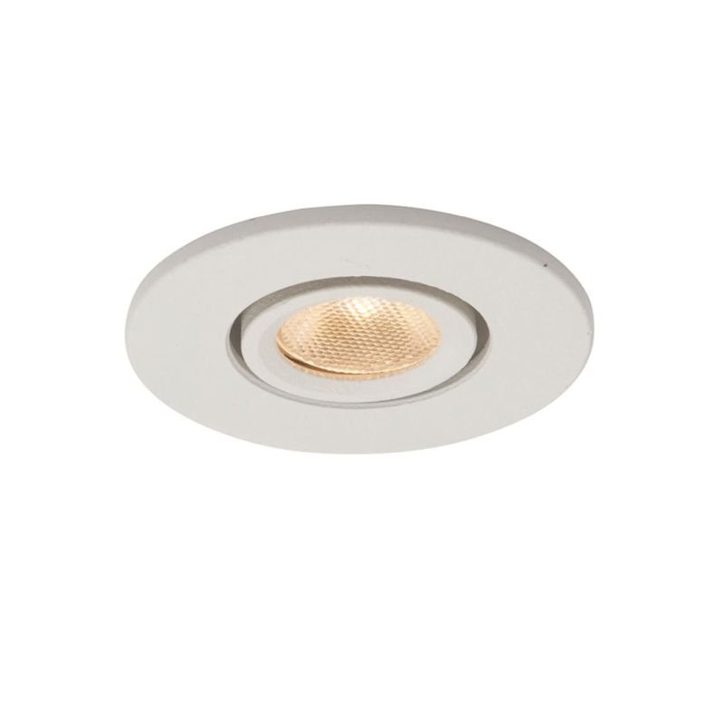 Saxby-95286 - Lalo - LED 3000K Micro White Recessed Downlight