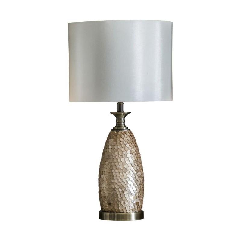 Endon-95461 - Dahlia - Ivory Shade & Decorative Base Table Lamp