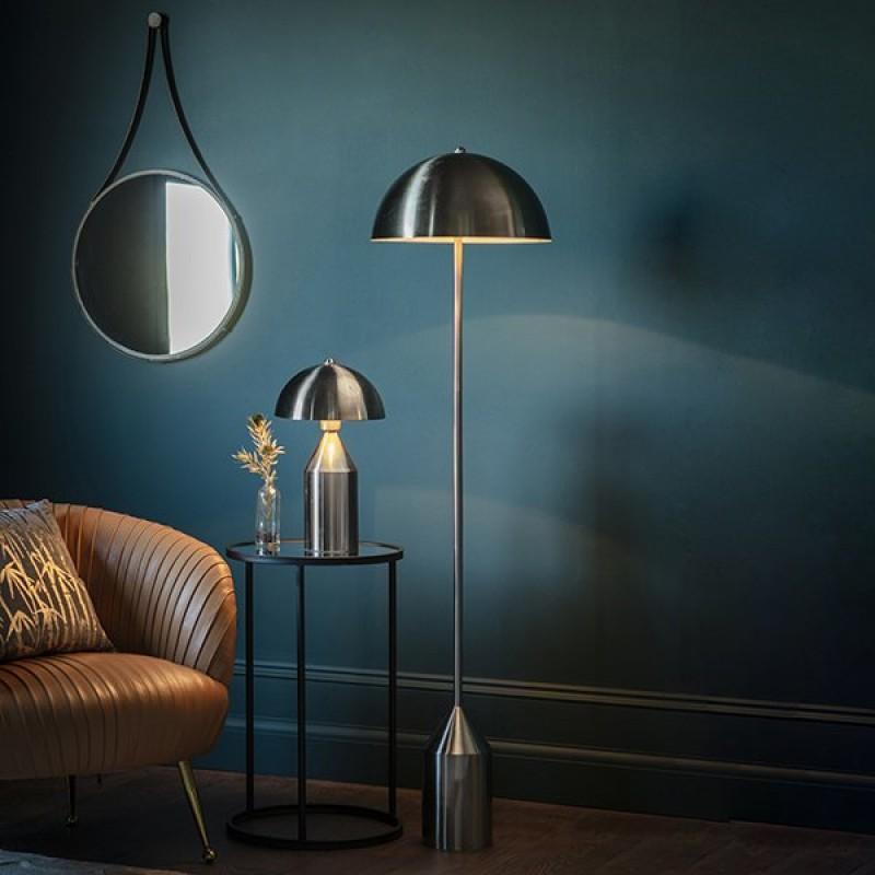 Endon-95468 - Nova - Brushed Nickel Floor Lamp