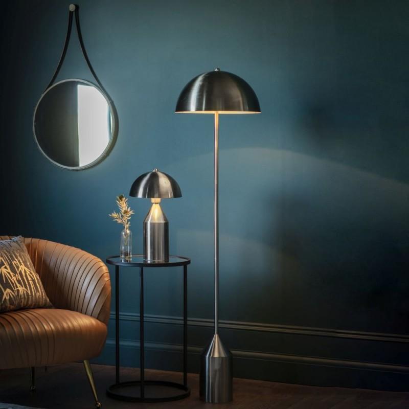 Endon-95469 - Nova - Brushed Nickel Table Lamp