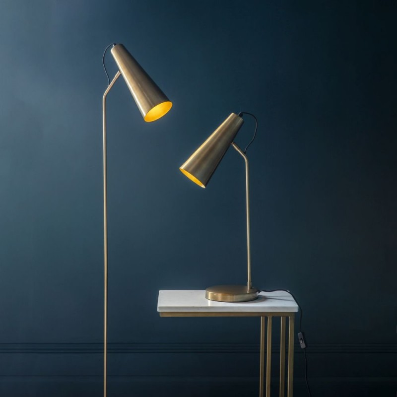 Endon-95475 - Karna - Antique Brass & Gold Desk Lamp