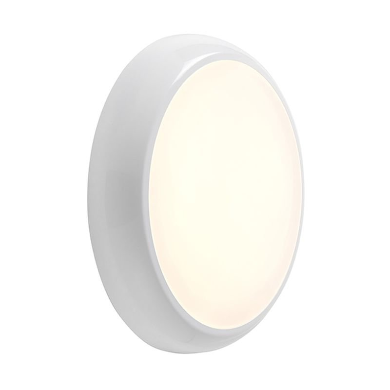 Saxby-95539 - Hero CCT - LED IP65 Gloss White Flush with Colour Changing