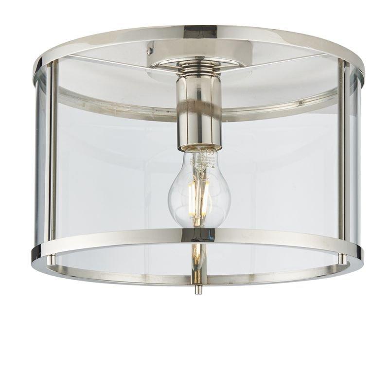 Endon-96150 - Hopton - Clear Glass & Nickel Lantern Ceiling Lamp