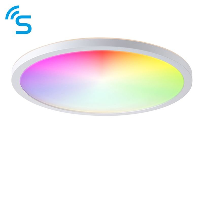 Saxby-96197 - Smart Halo - Bathroom Smart White Flush with Colour Changing