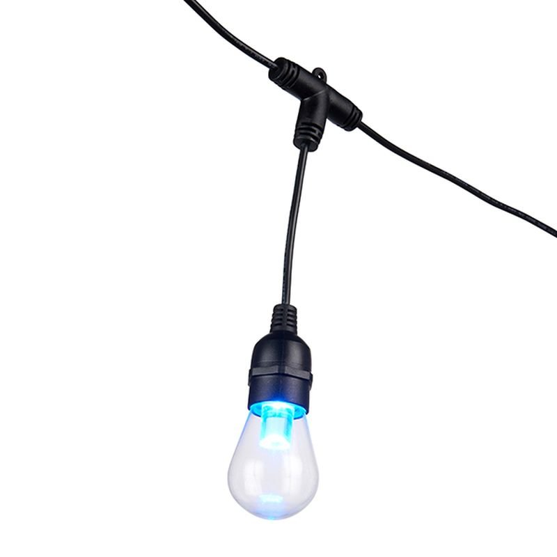 Saxby-96198 - Festoon Smart - Outdoor Black Cable with 12 Smart Lights