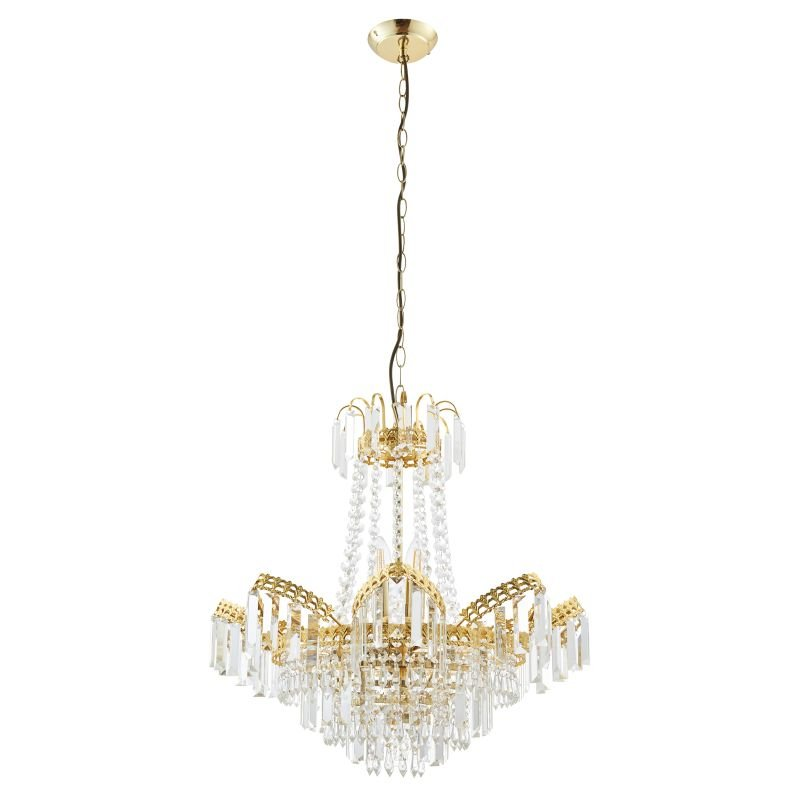 Endon-96819-GO - Adagio - Crystal Glass with Gold 9 Light Chandelier