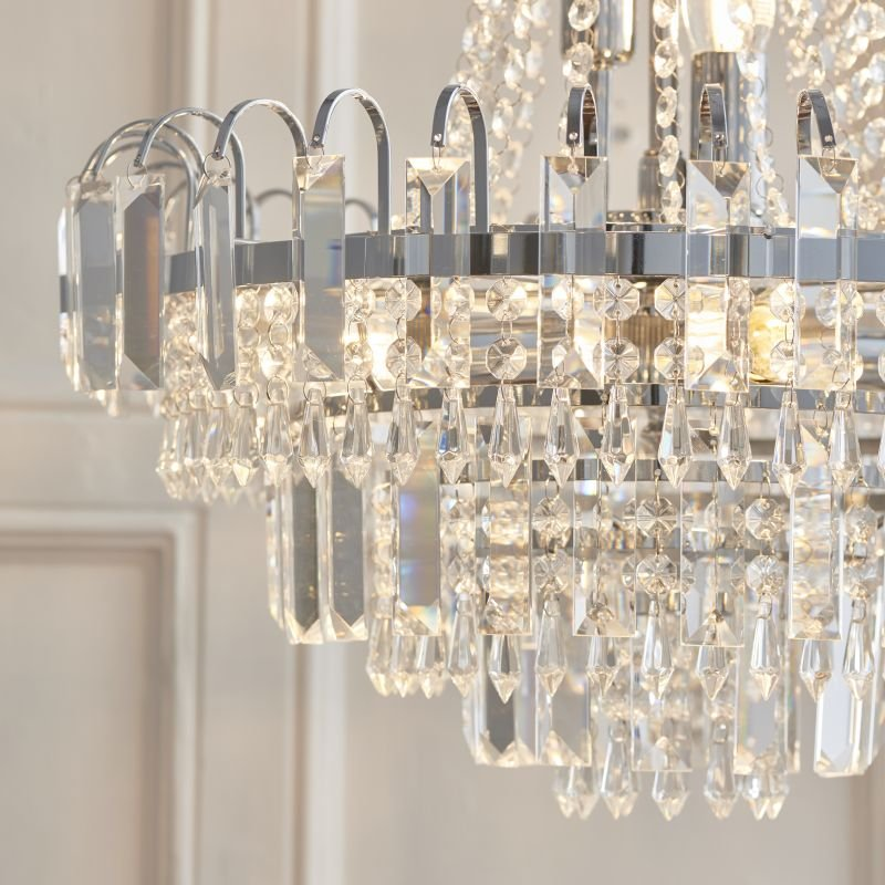 Endon-96826-CH - Amadis - Crystal Glass with Chrome 6 Light Chandelier