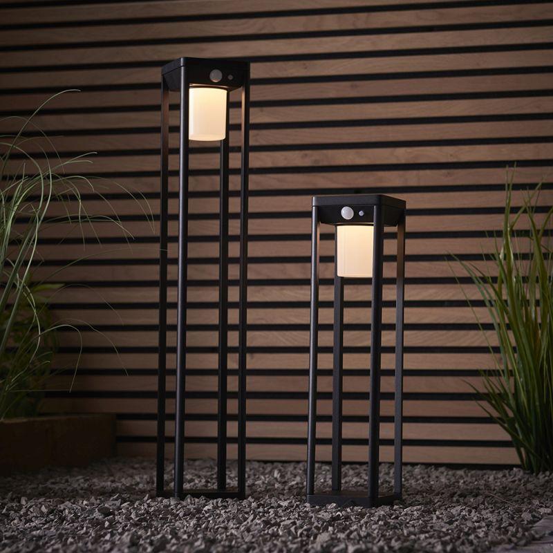 Endon-96929 - Hallam - LED White & Black Square Medium Bollard