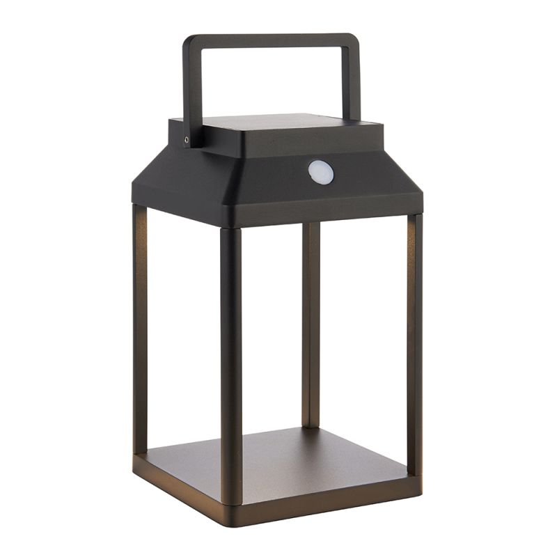 Endon-96931 - Linterna - LED Black Lantern Solar Post