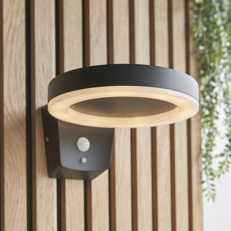 Endon-96933 - Ebro - LED Black & White Solar Wall Lamp