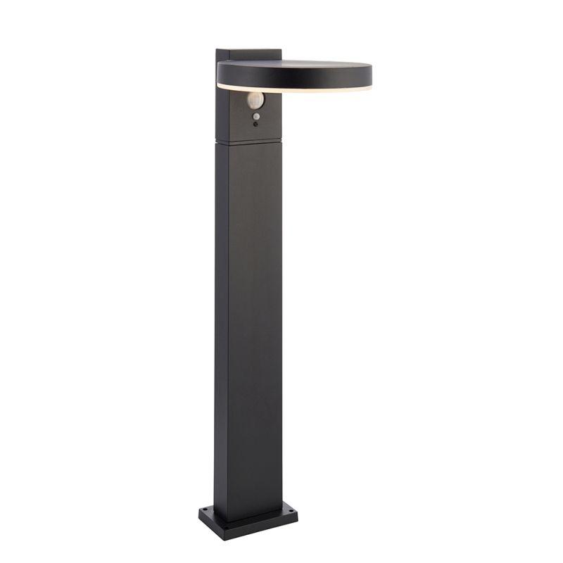 Endon-96934 - Ebro - LED Black & White Solar Post