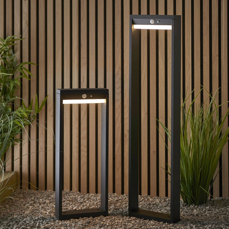 Endon-96935 - Dannah - LED Black & White Solar Small Bollard
