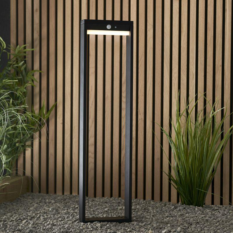 Endon-96936 - Dannah - LED Black & White Solar Big Bollard