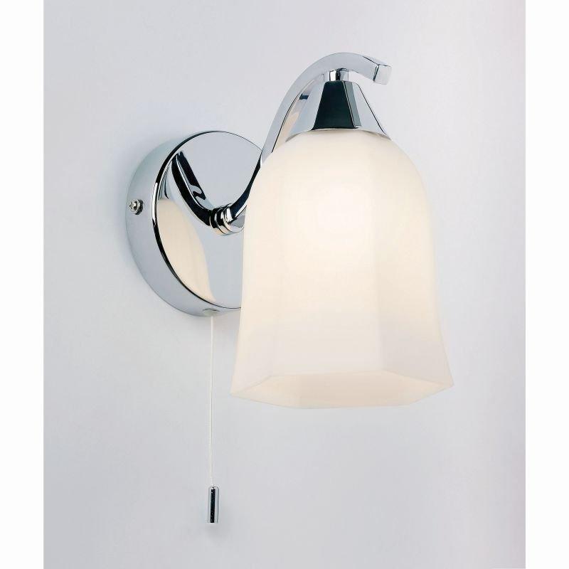 Endon-96961-WBCH - Alonso - Polished Chrome and Opal Glass Wall Lamp