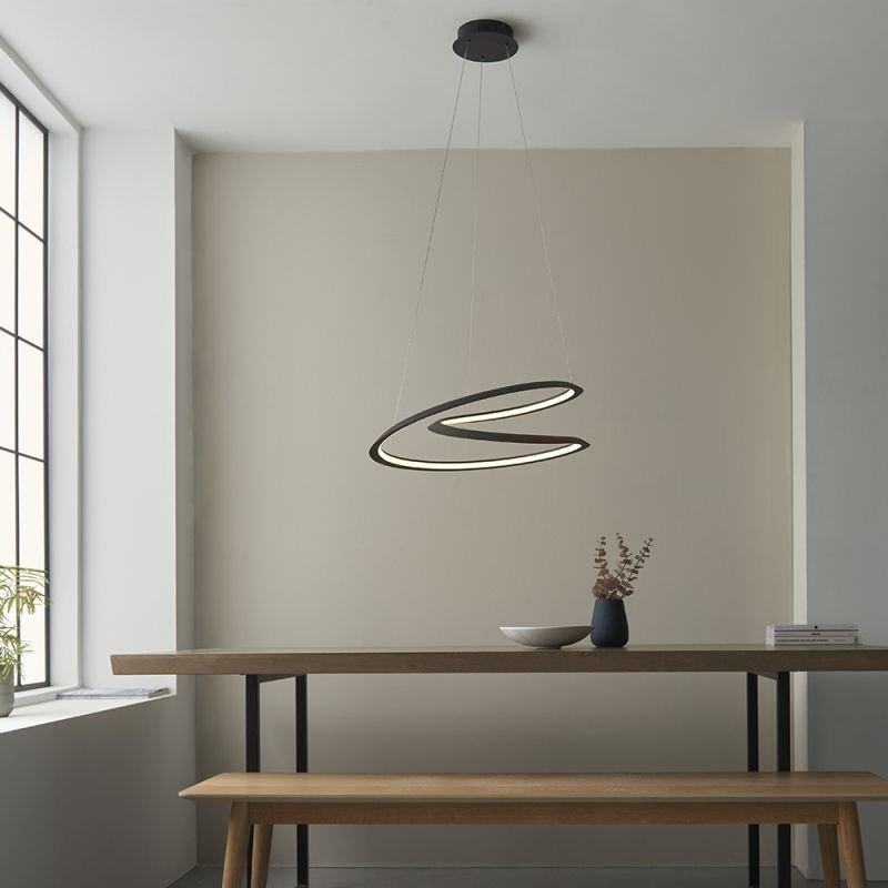 Endon-97606 - Staten - LED Textured Black Pendant