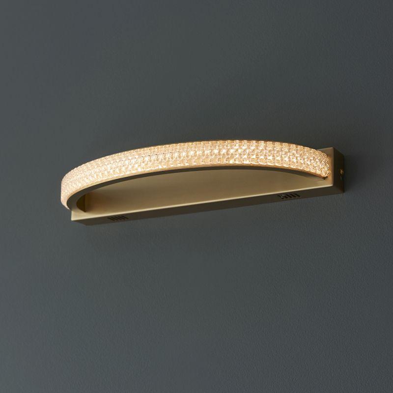 Endon-97611 - Lorenzo - LED Crystal & Satin Gold Wall Lamp