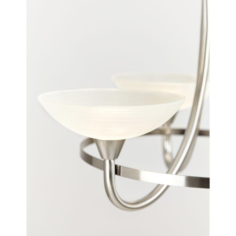 Endon-CAGNEY-5SC - Cagney - Satin Chrome & White Glass 5 Light Centre Fitting