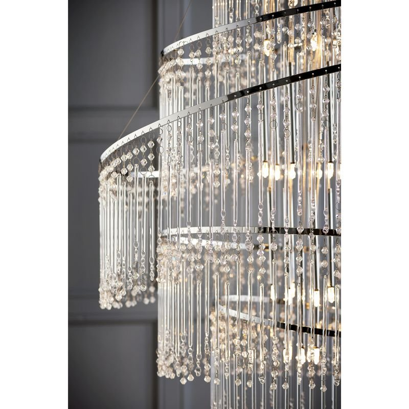 Endon-CAMILLE-24CH - Camille - Crystal with Chrome 24 Light Chandelier