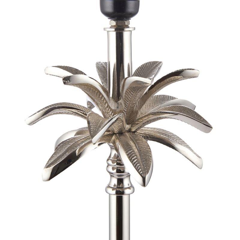 Endon-EH-LEAF-TL-L - Leaf - Polished Nickel Palm Tree Table Lamp - Only Base